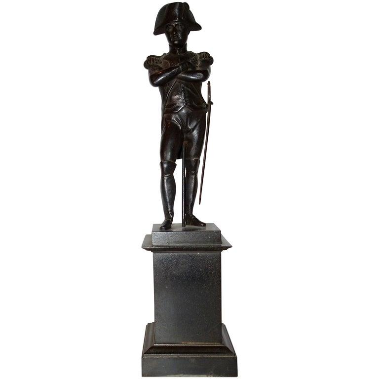 19th Century Black Bronze Statuette of Napoleon Bonaparte For Sale