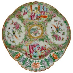 19th Century Chinese Rose Medallion Porcelain Dish