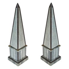Pair of Marble Obelisks, French