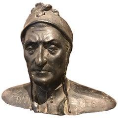 Bronze Bust of Dante Alighieri