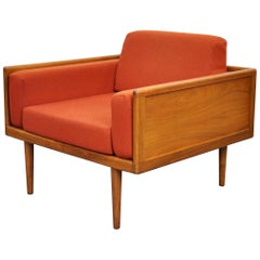 Mel Smilow for Smilow-Thielle Walnut Case Lounge Chair