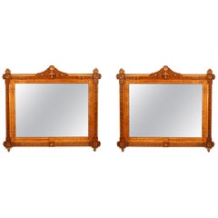 Pair of American Victorian Eastlake Framed Wall Mirror