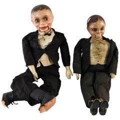 2 Vintage Ventriloquist Dummies