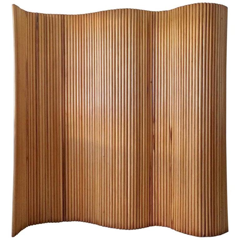 Joaquim Tenreiro Folding Screen in Wood, Brazil