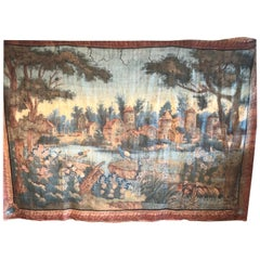 Important 18th Century Toile Peinte Tapestry, French