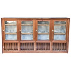 Antique Cigar Humidor and Cigarette Tobacco Display Cabinet