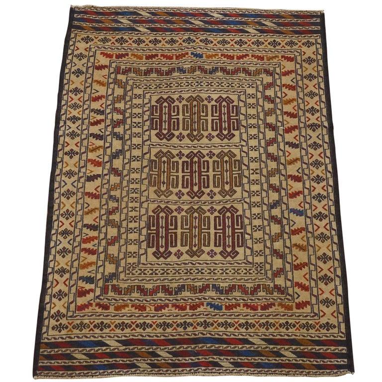 Fine Black Afghan Tribal Area Rug For Sale At 1stdibs