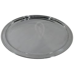 Very Large Round Sterling Silver Serving Tray by Tiffany & Co.