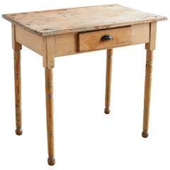 19th Century Rustic Pine Farmhouse Table