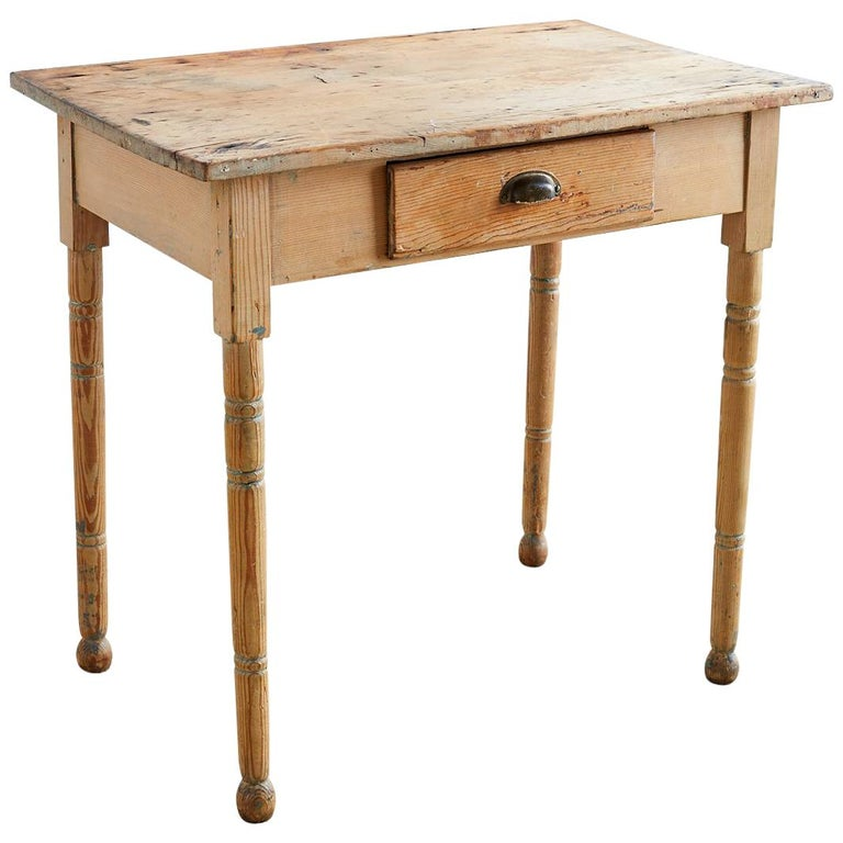 19th Century Rustic Pine Farmhouse Table
