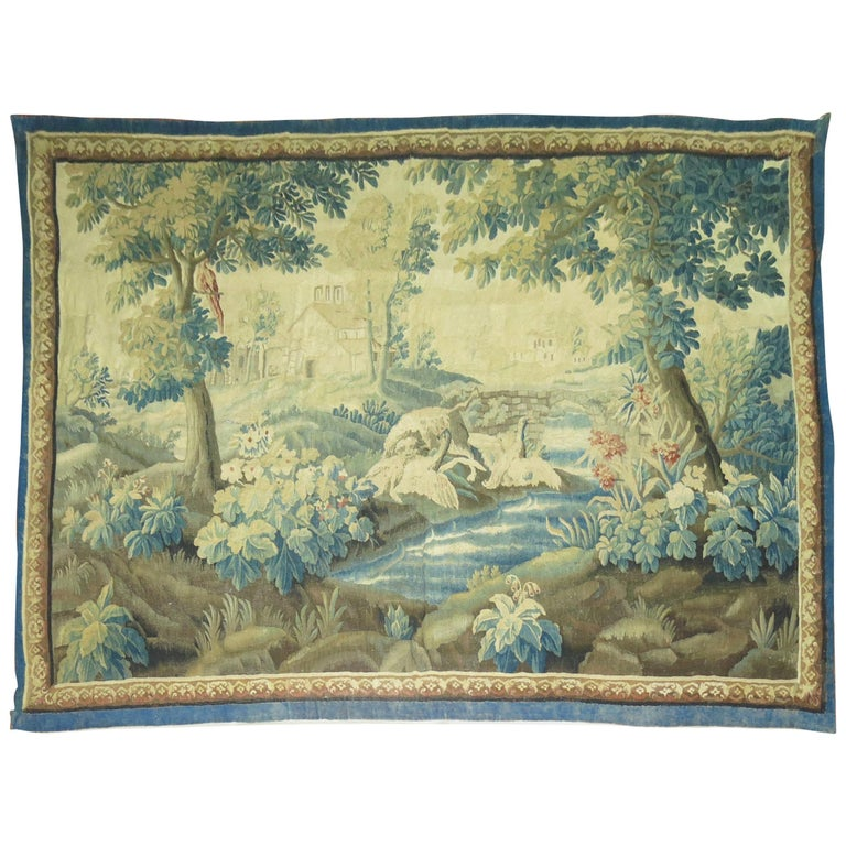 18th Century Antique French Verdure Tapestry
