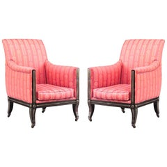 Pair of Russian Neoclassic Bergeres Chairs