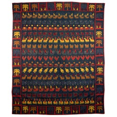 Extraordinary Indian Applique Wall Hanging Bedspread