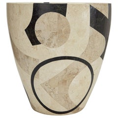 "Postmodern Tessellated Stone ""Et Cetera"" Round Planter, X-Large"