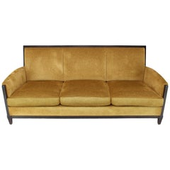 Dinghy Modern Luxury Sofa Chenille Upholstery Dark Chocolate Frame Finish