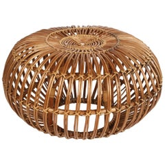 Franco Albini Wicker Ottoman or Stool