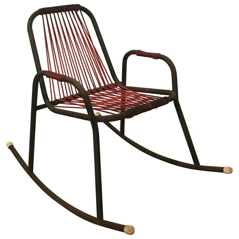 Red Rocking Chair Billy Strings ~ Rocking chair from ton former thonet in red fabric s