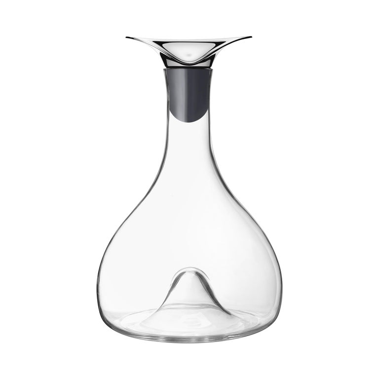 Wine & Bar Carafe in Stainless Steel Mirror Finish Glass by Georg Jensen
