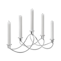Georg Jensen Harmony Candleholder in Stainless Steel by Maria Berntsen