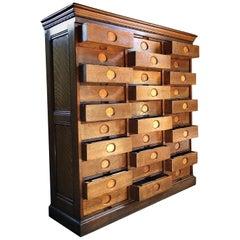 Stunning Haberdashery Oak Chest of Drawers Filing Cabinet Amberg Loft Style NY