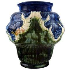 Møller & Bøgely, Denmark art nouveau pottery vase of glazed ceramics, circa 1920
