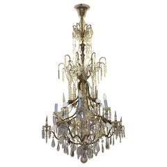 19th Century Classicist European Ceiling Candelabra Chandelier