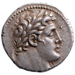 Ancient Jewish Silver Temple Tax Shekel Coin, 116 BC