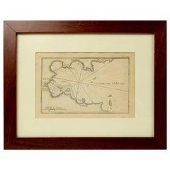 Antique Portolano of Golfe De St. Drely by Antoine Roux, France, 1844