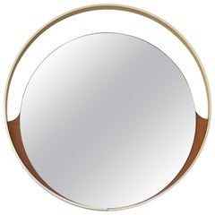 Elegant Shaped Mirror by Cristal Art, Italy, circa 1965