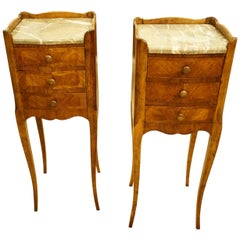 Pair of French Louis XVI Bedside Chests