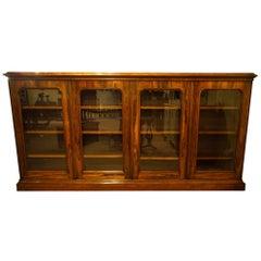 Rare Four-Door Glazed Rosewood Bookcase