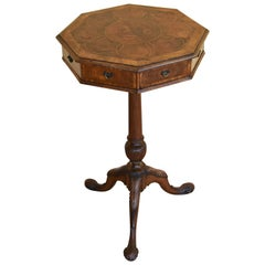 18th Century Walnut Oyster Shell Occasional Table