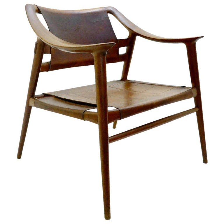 Rastad & Relling 'Bambi' Armchair in Cognac Leather, Norway, circa 1970s