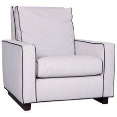 Minotti Designer Fabric Armchair Grey Chair