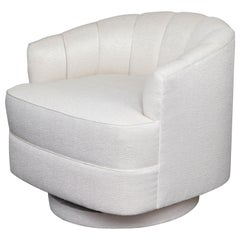 Custom Champagne Swivel Chair