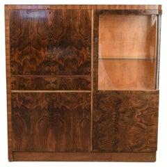 Art Deco Burlwood Cabinet