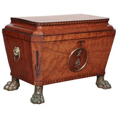 English Regency, Mahogany and Bronze-Mounted Wine Cooler