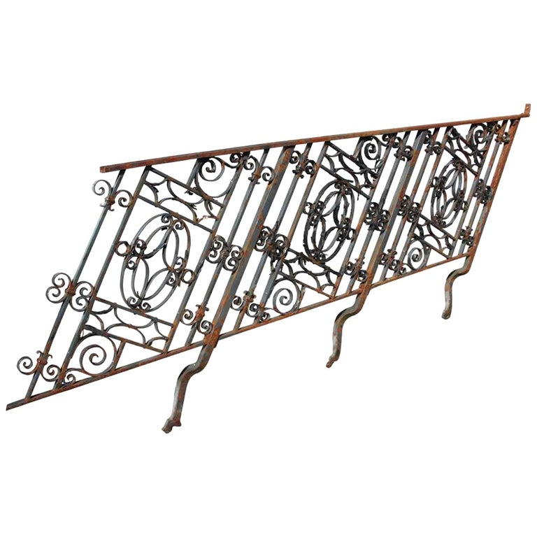 1910 Georgian Wrought Iron Stair Railing For Sale At 1stdibs