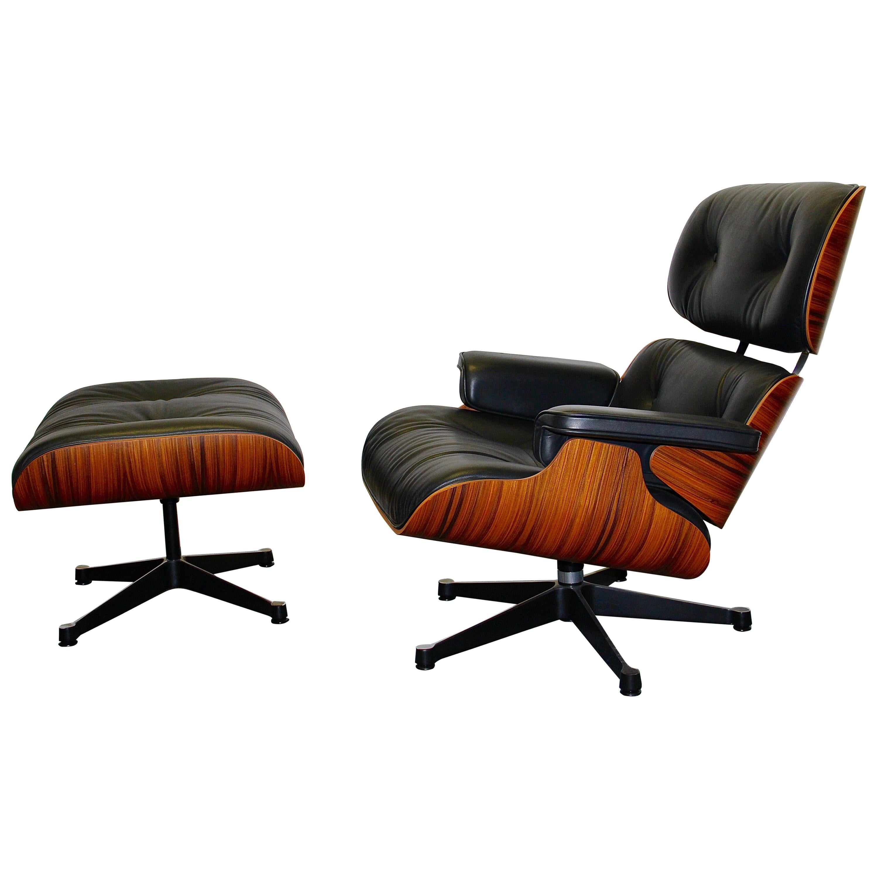 VITRA, Charles U0026 Ray Eames Lounge Chair And Ottoman, Limited Anniversary  Edition For Sale