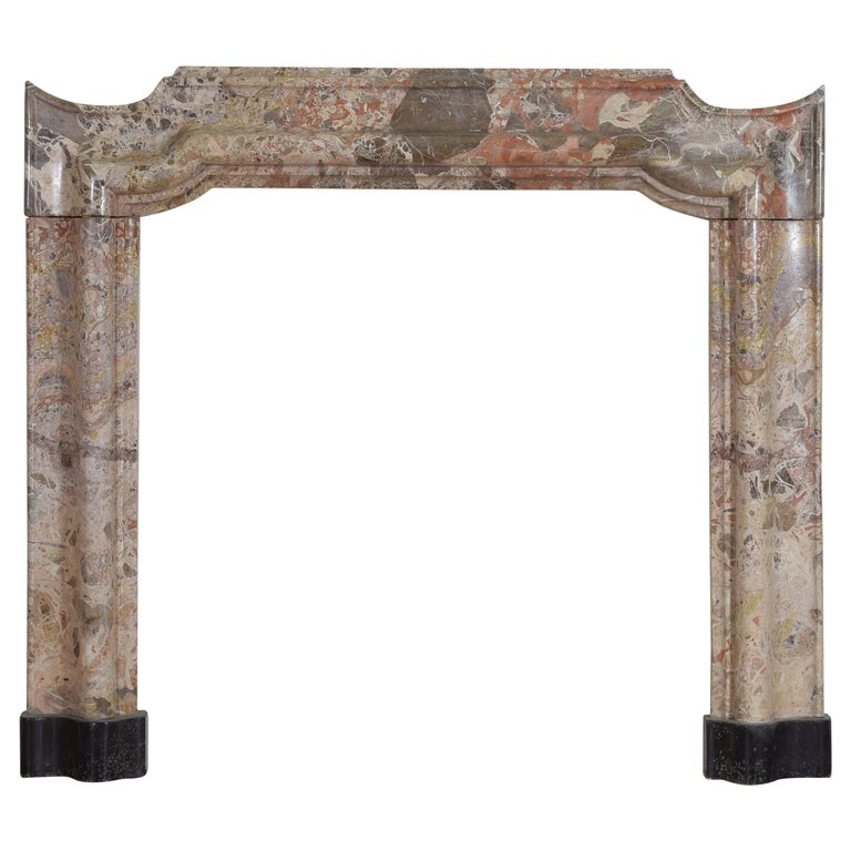 Italian Marble Mantelpiece from Early 18th Century, Louis XIV Period