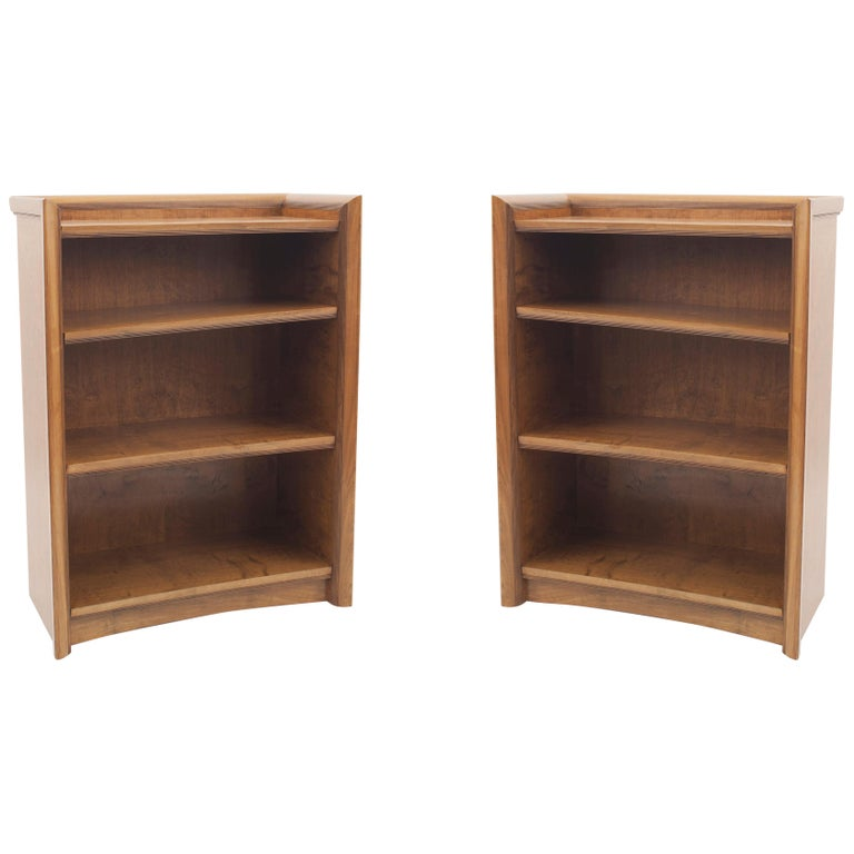 Pair of American Midcentury 1950s Maple Bookcase Cabinets