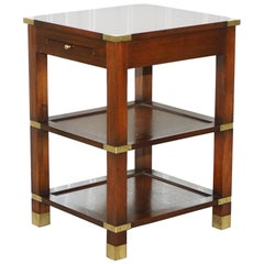 Harrods London Kennedy Furniture Side End Lamp Table with Leather Butlers Tray