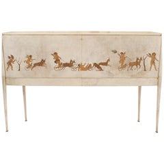 Italian Midcentury 1930s Sideboard or Bar Cabinet