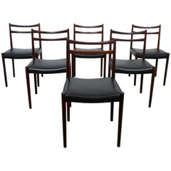 Set of Six Rosewood Dining Chairs, Denmark, 1960s