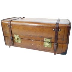 """Au Depart"" Leather Trunk, 1920s"