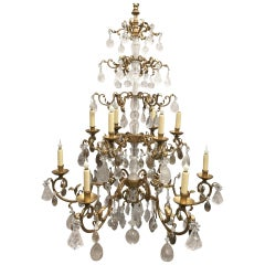 Rock Crystal Twelve-Light Chandelier