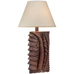 Charles Sucsan, Monumental Canadian Glazed Stoneware Lamp