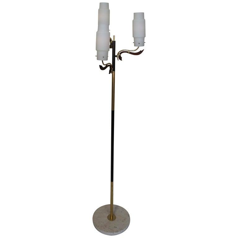 Italian 1960s Stilnovo Style Floor Lamp
