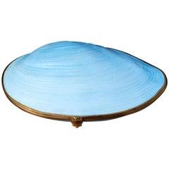 Limoges Porcelain Clam Shell Trinket Box