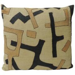 CLOSE OUT SALE: Vintage Kuba Squares Patchwork African Decorative Pillow